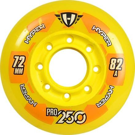 Pro 250 80mm/82A Yellow, 4pck