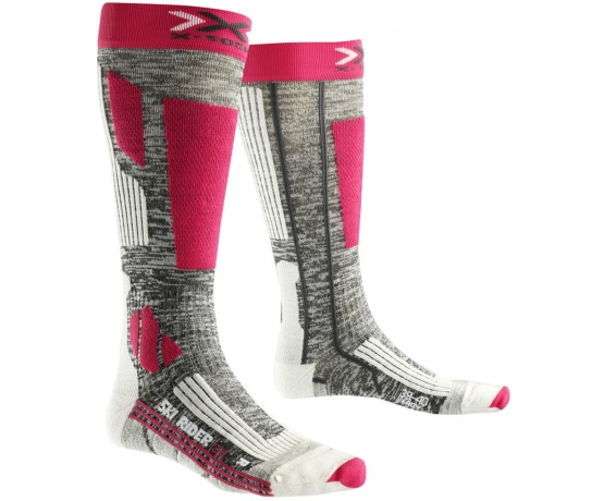 Ski Rider 20 Women Long Grey Melange/Fuchsia
