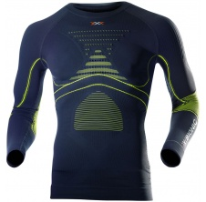 Energy Accumulator Evo LS Round Neck Men Charcoal/Yellow