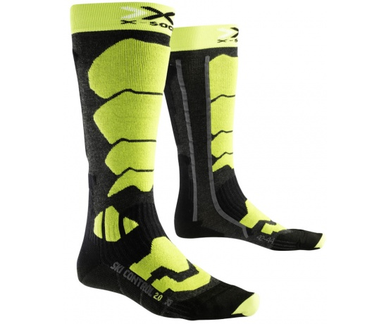 Ski Control 20 Long Anthracite/Green Lime