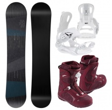 Snowboardový set General + FT 270 white + Galore LYT BOA,