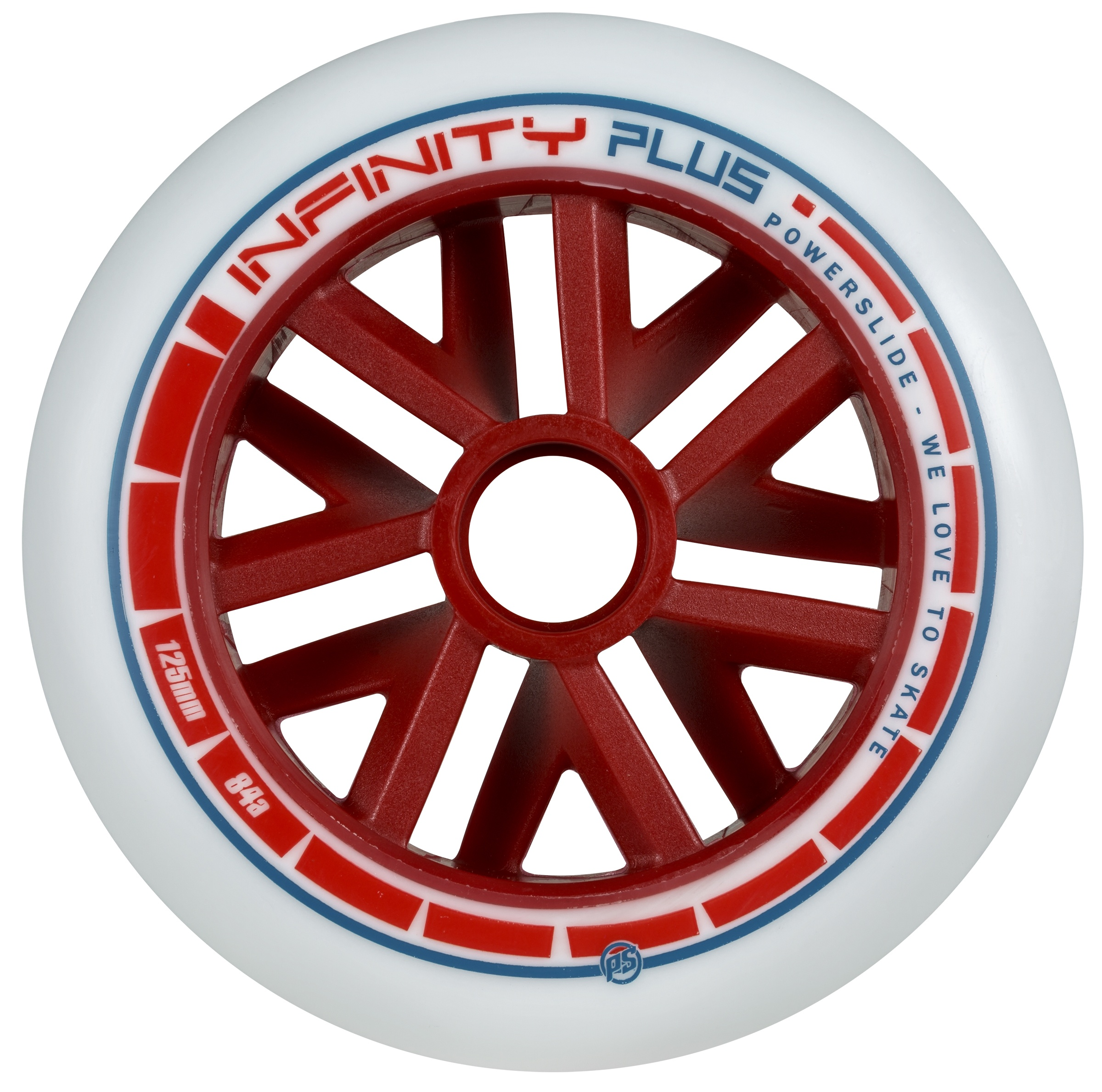 Infinity Plus Red 125mm/84A-70A, 6pck