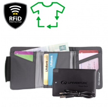 RFiD Charger Wallet Recycled; grey