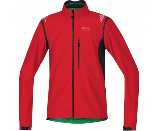 GORE Element WS Active Shell Zip-Off Jacket-red/black-M