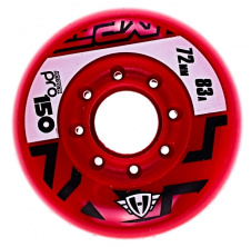 Pro 150 76mm/83A Red, 4pck
