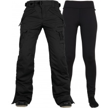 kalhoty AUTHENTIC SMARTY CARGO PANT black tall