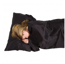 Silk Ultimate Sleeping Bag Liner; black; mummy