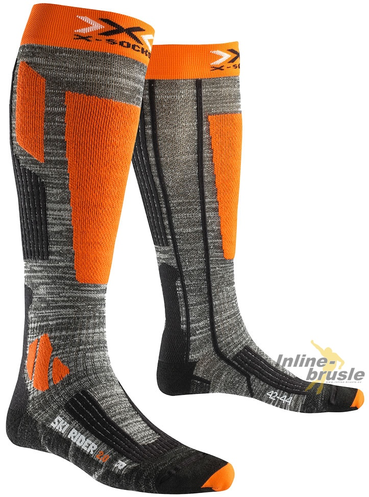 Ski Rider 20 Long Grey Melange/Orange