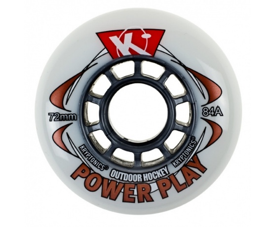 Power Play White 72mm/84A, 1pck