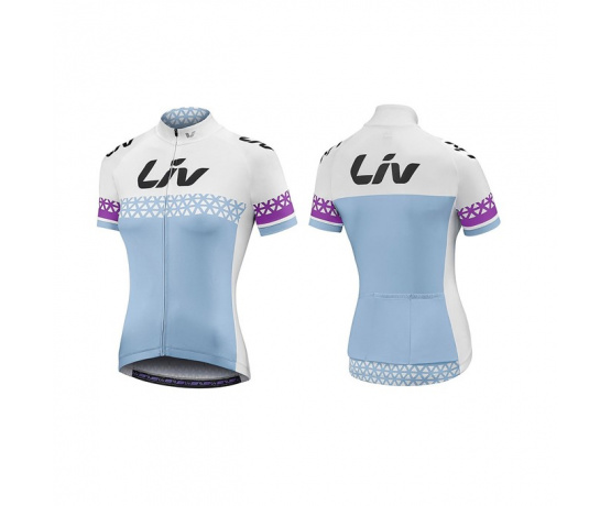 LIV Beliv-Luna SS Jersey-blue/white/purple-XL