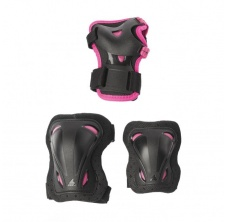 Skate Gear Junior 3 Pack G Black/Pink