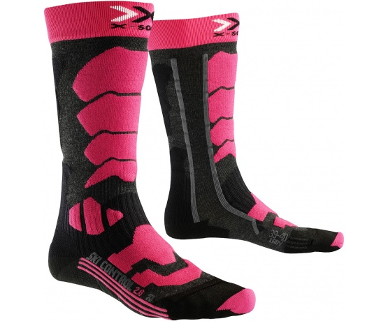 Ski Control 20 Long Women Anthracite/Fuchsia