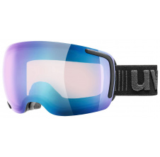 lyžařské brýle UVEX BIG 40 VFM, black mat double lens/variomatic full mirror blue (2023)